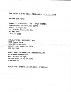Founder's Day 2016 Hotel Info 001
